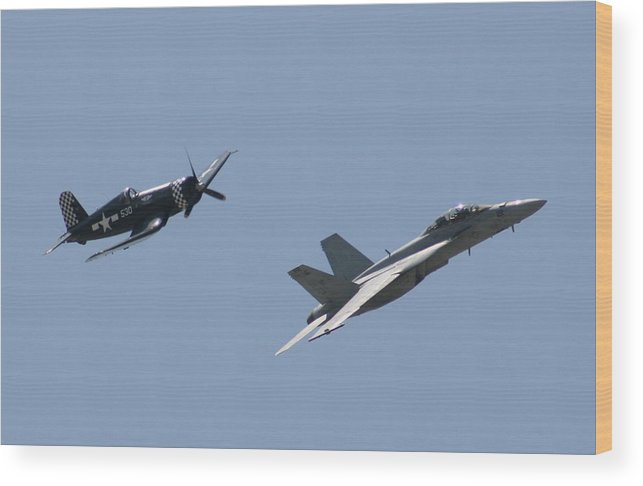 Airplane Wood Print featuring the photograph Good Buddies by David Dunham