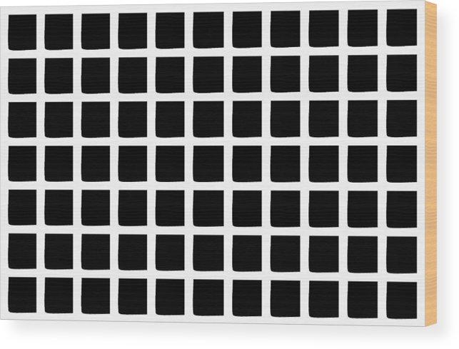 Wood Print featuring the digital art Black Squares by J Sanchez