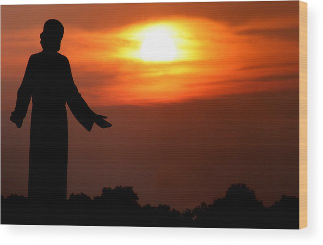 Jesus Wood Print featuring the photograph Holy Sunset by Jason Hochman