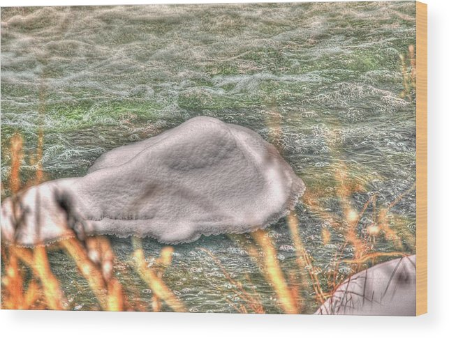 Rcouper Wood Print featuring the photograph Ice Flow by Rick Couper