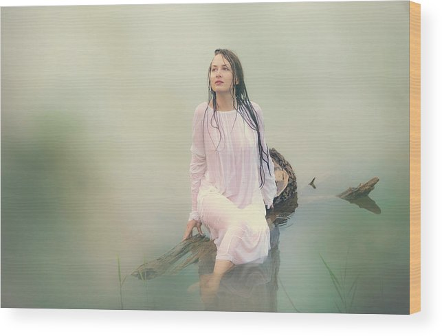 Russian Artists New Wave Wood Print featuring the photograph In Dreamy World by Vitaly Vakhrushev