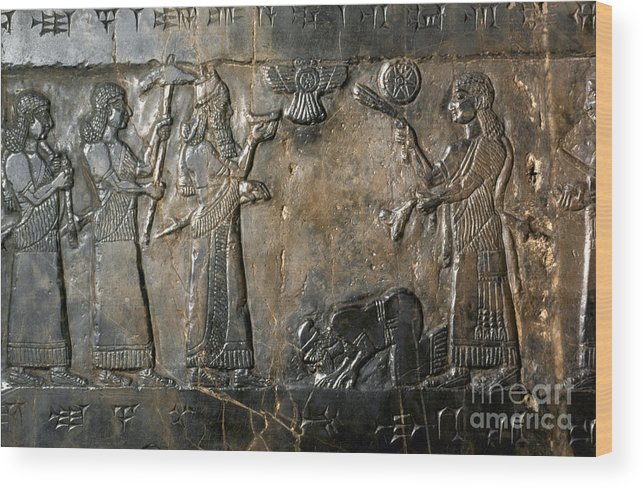 800 B.c. Wood Print featuring the photograph Israelite Submission by Granger