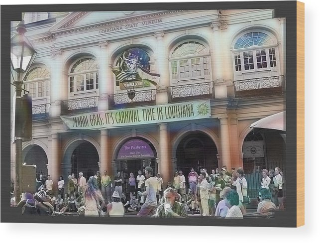New Orleans Wood Print featuring the photograph It's Carnival Time by Linda Kish