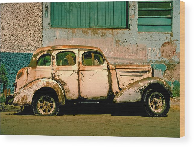 Skip Wood Print featuring the photograph Jalopy by Skip Hunt