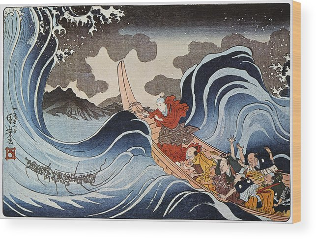 1835 Wood Print featuring the photograph Kuniyoshi: Oban Print by Granger