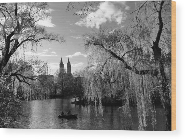 The Lake Wood Print featuring the photograph Lake by Andrew Dinh