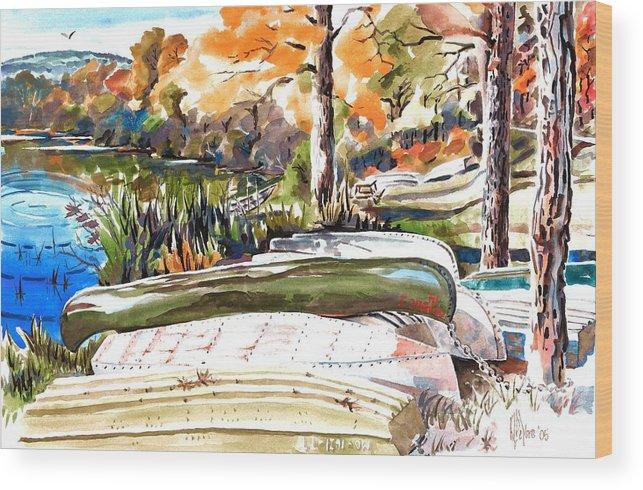 Last Summer In Brigadoon Wood Print featuring the painting Last Summer In Brigadoon by Kip DeVore