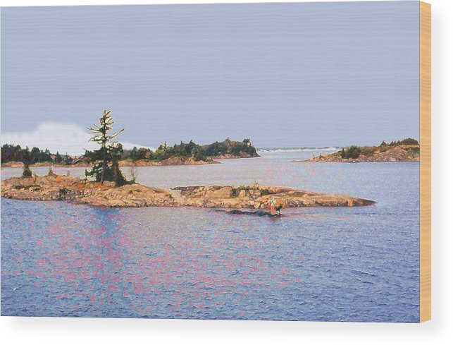 Island Wood Print featuring the photograph Little Island Ae Painting 2 by Lyle Crump