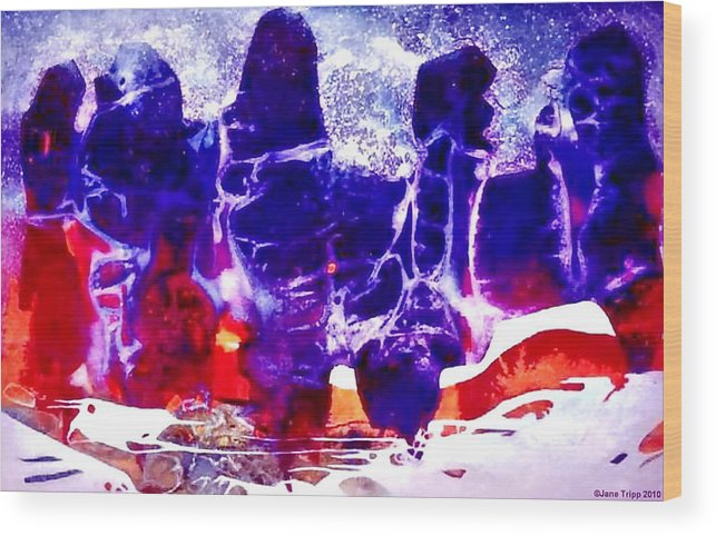 Mythic Art Wood Print featuring the painting Luminous World by Jane Tripp
