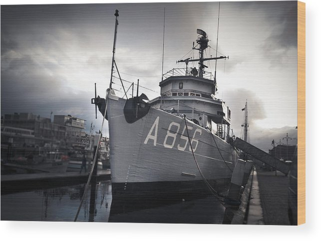Harbour Wood Print featuring the photograph Majesty by Davina Scheper