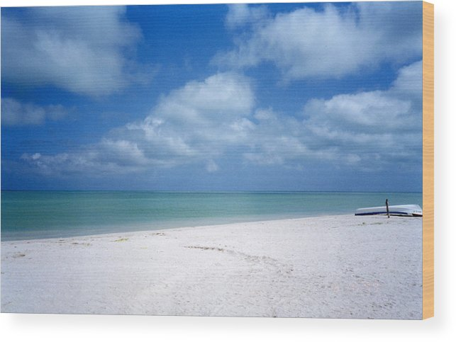 Beach Wood Print featuring the photograph Mexican Beach by Jessica Wakefield