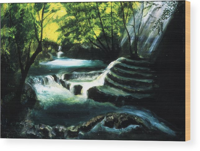 My Secret Place Wood Print featuring the painting My Secret Place by Ione Citrin