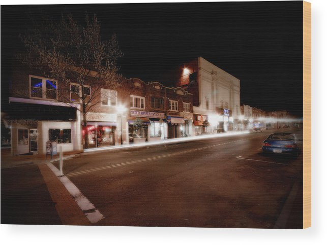 Huntington Wood Print featuring the photograph New York Ave South by Michael Simeone