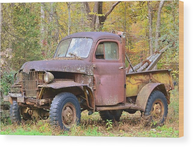 Jalopy Wood Print featuring the photograph Old Jalopy by Eileen Brymer