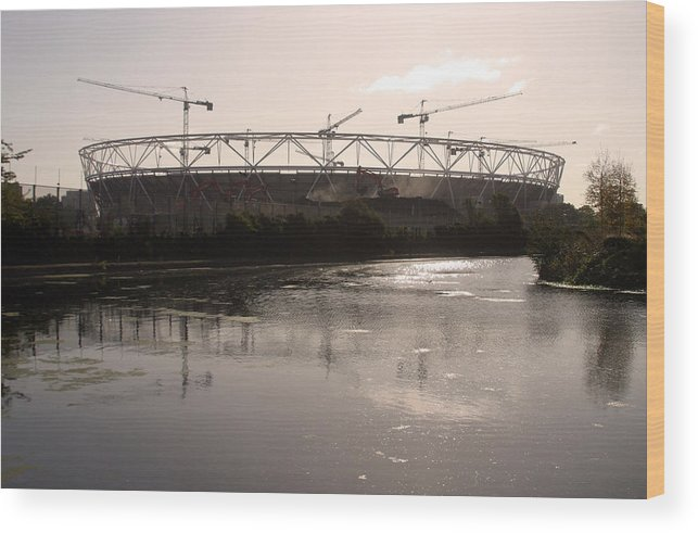 Jez C Self Wood Print featuring the photograph Olympic Folly 2 by Jez C Self
