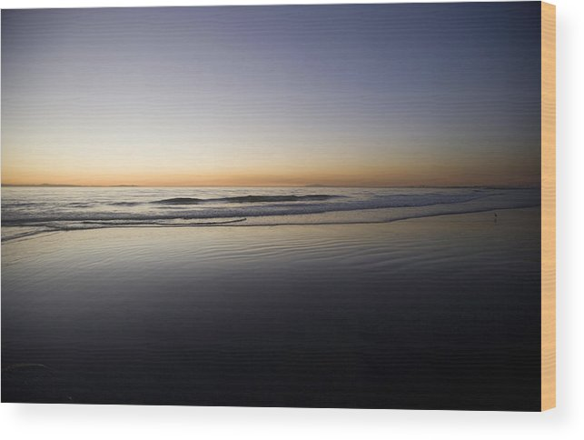 Water Wood Print featuring the photograph Pacific Ocean Dusk by Brad Rickerby