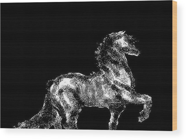 Horses Wood Print featuring the digital art Passage by Carole Boyd
