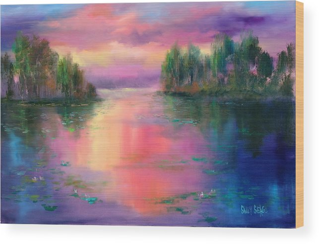 Ponds Wood Print featuring the painting Passion In Provence by Sally Seago