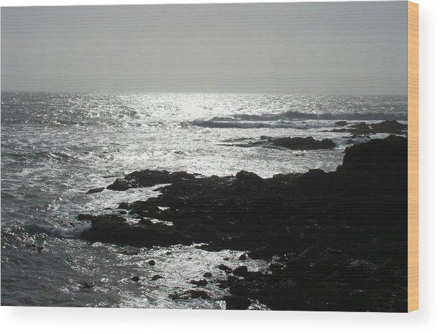 Beaches Wood Print featuring the photograph Peaceful by Shari Chavira