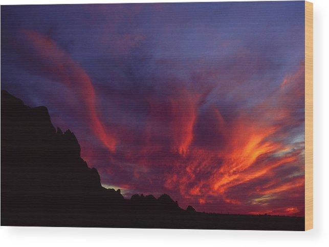 Arizona Wood Print featuring the photograph Phoenix Risen by Randy Oberg