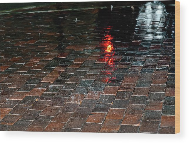 Rain Wood Print featuring the photograph Rain by Luca Renoldi