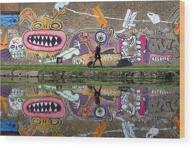 Jez C Self Wood Print featuring the photograph Reflective Canal 11 by Jez C Self