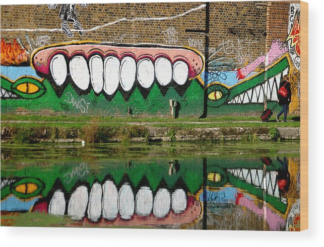 Jez C Self Wood Print featuring the photograph Reflective Canal 13 by Jez C Self