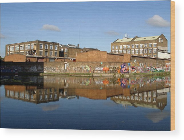 Jez C Self Wood Print featuring the photograph Reflective Canal 3 by Jez C Self