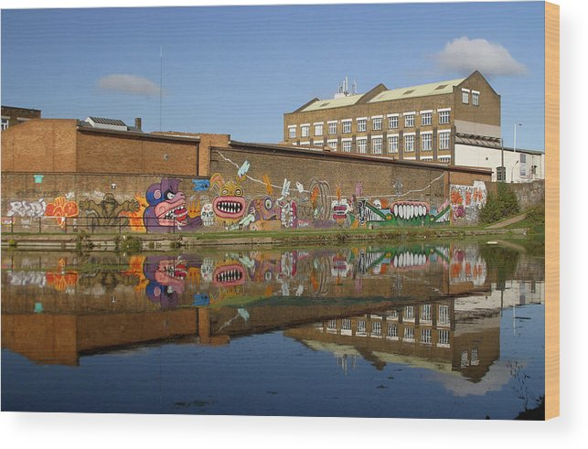 Jez C Self Wood Print featuring the photograph Reflective Canal 4 by Jez C Self