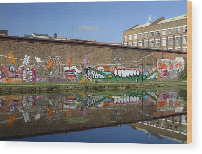 Jez C Self Wood Print featuring the photograph Reflective Canal 6 by Jez C Self