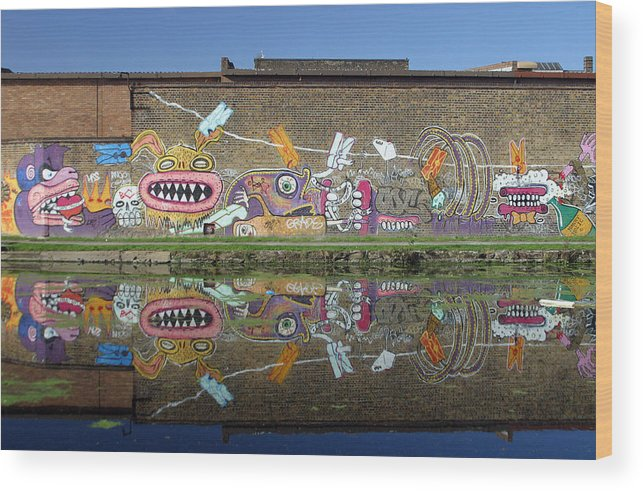 Jez C Self Wood Print featuring the photograph Reflective Canal 7 by Jez C Self