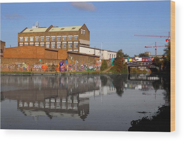 Jez C Self Wood Print featuring the photograph Reflective Canal by Jez C Self