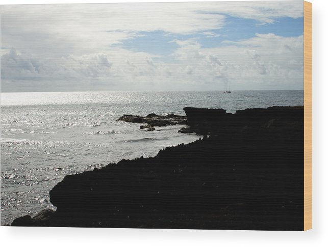 Sailboat Wood Print featuring the photograph Sailboat At Point by Jean Macaluso
