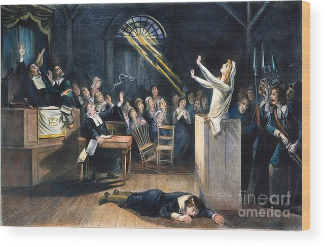 1692 Wood Print featuring the photograph Salem Witch Trial, 1692 by Granger