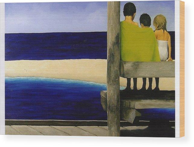Seascape Wood Print featuring the painting Secrets by Trisha Lambi