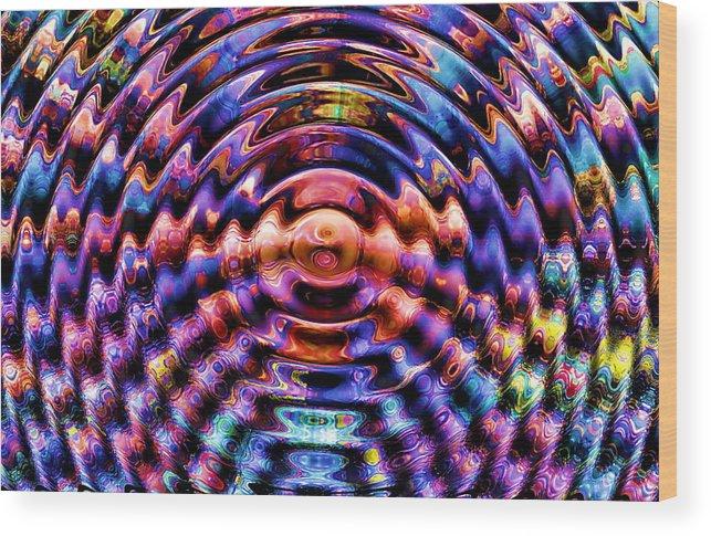Singulation Ornament Art Computer Wood Print featuring the photograph Singulation by Yury Bashkin
