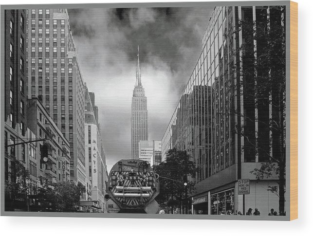 New York Wood Print featuring the photograph Smell The Roses by Guy Ciarcia