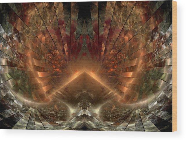 Sun Wood Print featuring the digital art Sol Invictus by NirvanaBlues