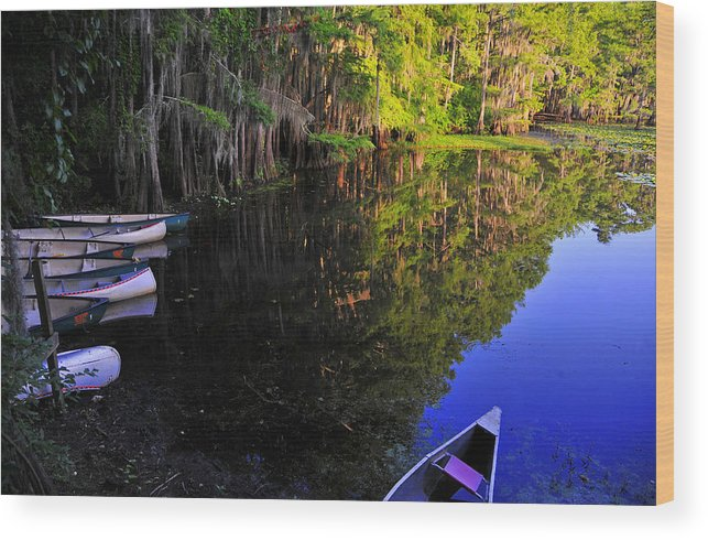 Skip Hunt Wood Print featuring the photograph The Black Lagoon by Skip Hunt