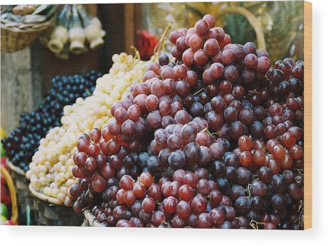 Grapes Wood Print featuring the photograph The Drink Of Italy by Kathy Schumann