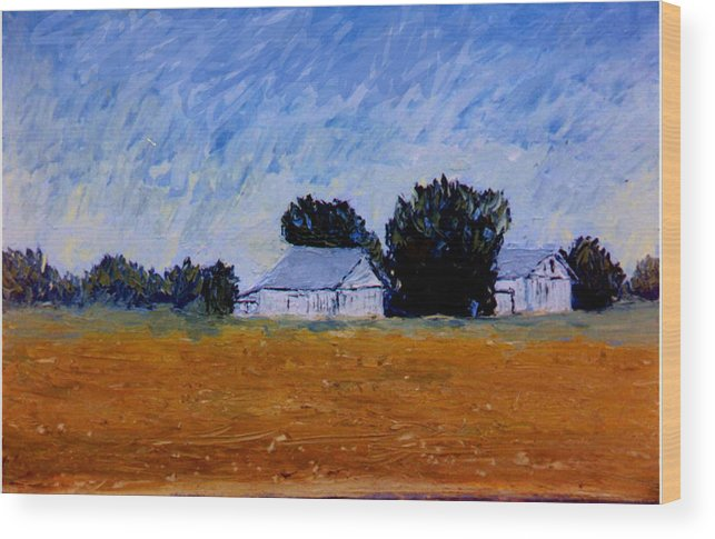 Knife Oili Wood Print featuring the painting The Farm by Stan Hamilton