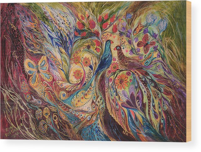 Original Wood Print featuring the painting The Mediterranean Summer by Elena Kotliarker