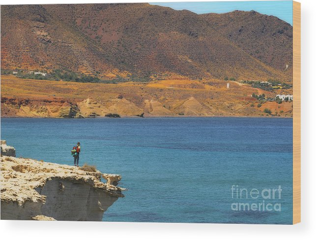 Landscape Wood Print featuring the photograph The Traveler by Javier CERDAN