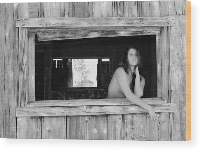 Female Wood Print featuring the photograph The Window by Brad Alexander