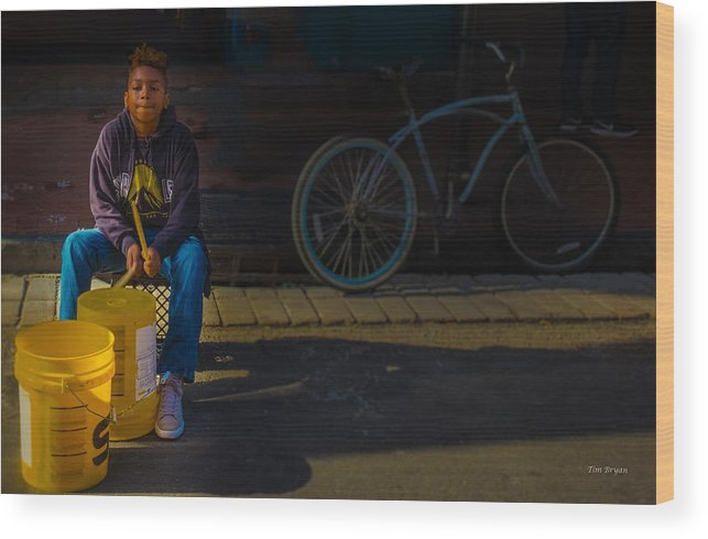 New Orleans Wood Print featuring the photograph Driven To My Goal by Tim Bryan
