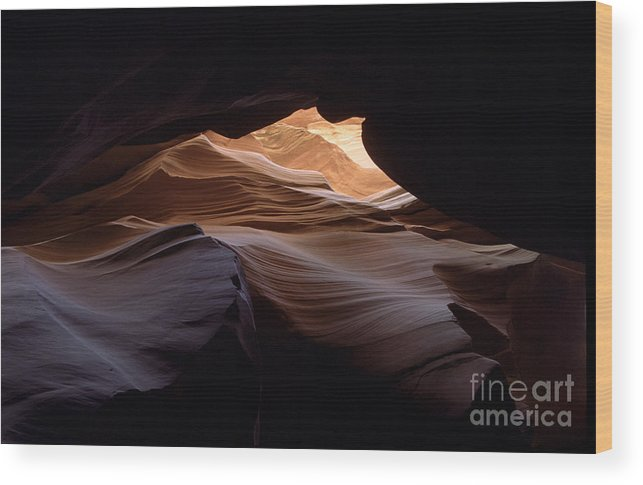 Antelope Canyon Wood Print featuring the photograph Wind And Water by Kathy McClure