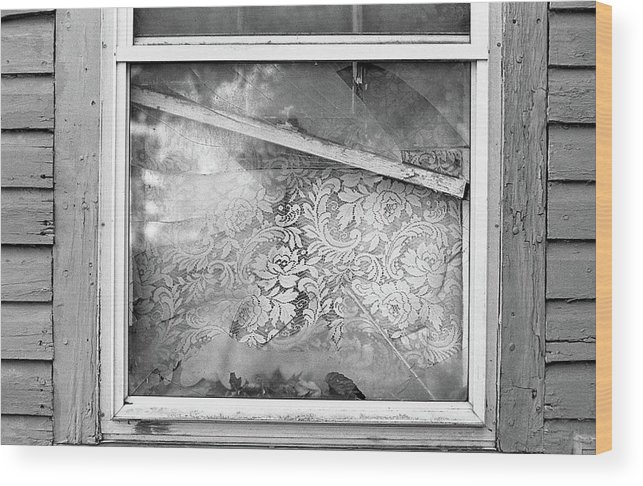 Broken Wood Print featuring the photograph Window Frame by Megan Greenfeld