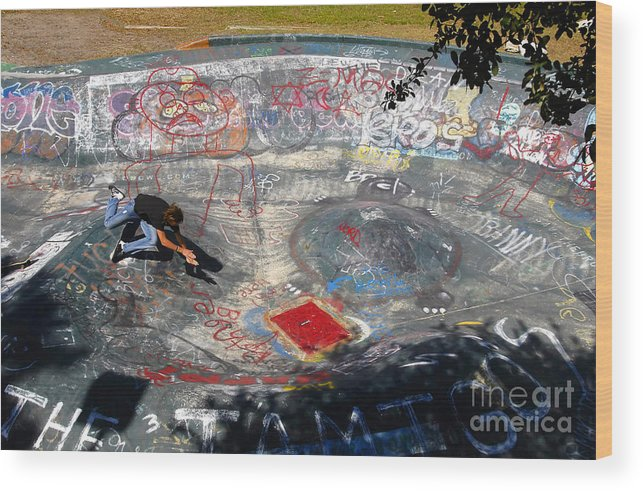 Falling Wood Print featuring the photograph Wipe-out by David Lee Thompson