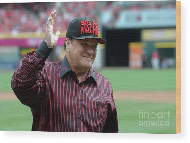 Great American Ball Park Wood Print featuring the photograph St Louis Cardinals V Cincinnati Reds 1 by Dylan Buell