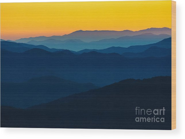 Camping Wood Print featuring the photograph Dramatic Sunrise At Great Smokey by Zack Frank